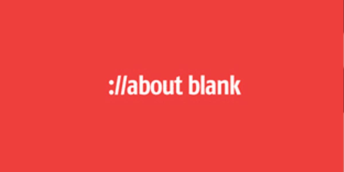 freie Plakatierung für das about blank